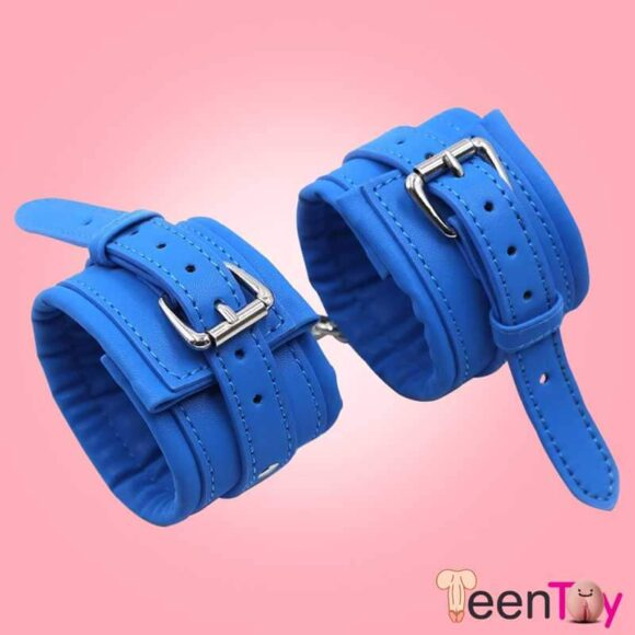 Premium Leather Naughty Nurse Wrist Cuffs Bondage Gear BDSM-021