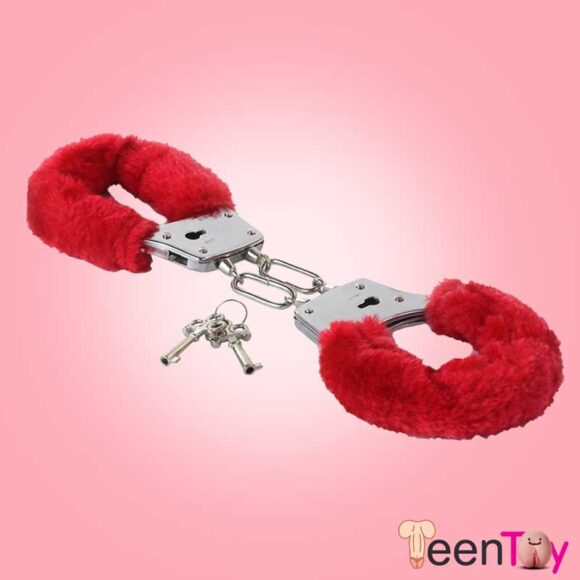 Fetish Fantasy Beginner's Furry Cuffs in Red BDSM-004