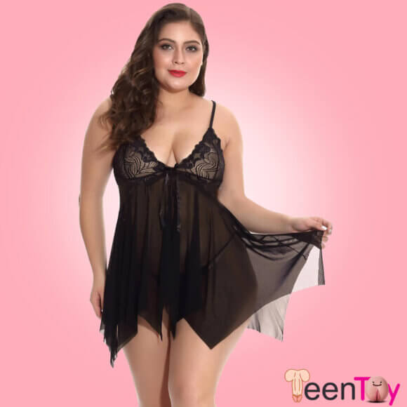 Black Baby Doll Dresses With Panty SL-004