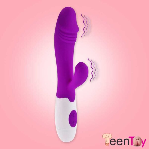 Transparent Hair Finger Fun Function Cock Ring CR-009